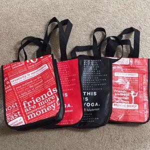 Lululemon reusable small tote bag bundle